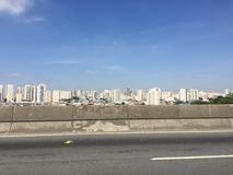 Miasto widok od autostrady Obraz Stock