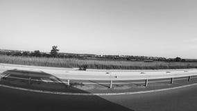 Miasto widok od autostrady 2 BW zbiory wideo