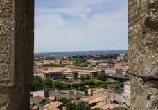 Miasto widok od fortecy Carcassonne Obraz Royalty Free