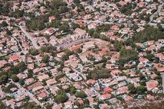 Miasto widok od Montgo góry w Denia, Hiszpania Zdjęcia Royalty Free
