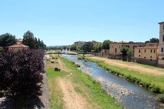 Miasto widok Pescia, Włochy zdjęcie royalty free