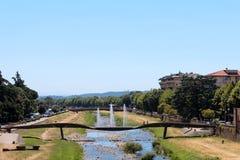 Miasto widok Pescia, Włochy obrazy royalty free