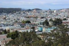 Miasto widok San Francisco na pogodnym letnim dniu obrazy stock