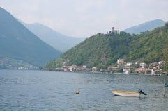 Miasto widok Sensole Monteisola Zdjęcia Stock