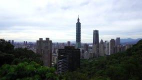 Miasto widok Taipei, Tajwan zdjęcie wideo