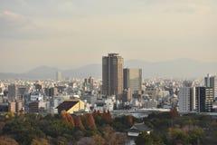 Miasto widok w evening Osaka, Japonia Zdjęcie Stock