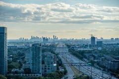 Miasto widok w lato czasie Obraz Stock