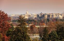 Miasto widok Waszyngton, DC punkty zwrotni Zdjęcia Stock