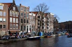 Miasto widoki Amsterdam zdjęcie stock