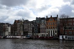 Miasto widoki Amsterdam obrazy royalty free