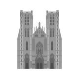 Miasto widoki Brukselski architektura punkt zwrotny Belgia kraju podróży płascy elementy Katedra St Michael i St Obrazy Royalty Free