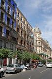 Miasto widoki Hiszpański kapitał Fotografia Stock