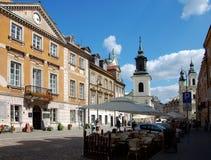 Miasto widoki Warszawa zdjęcie royalty free