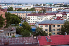 Miasto widoku stary dach Fotografia Stock