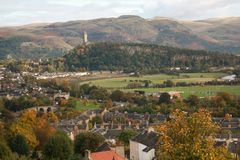 Miasto widzieć od Stirling kasztelu Stirling zdjęcie royalty free