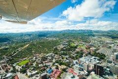 Miasto Windhoek, Namibia, widok z lotu ptaka Windhoek zdjęcie stock