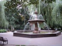 miasto wskazówki piękna fontanna w miasto parku fotografia royalty free