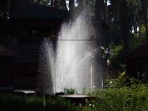 miasto wskazówki piękna fontanna w miasto parku fotografia stock