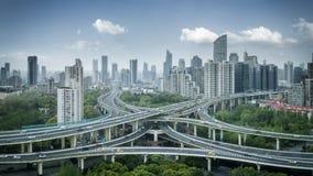 Miasto wymiany panorama w Shanghai Fotografia Stock