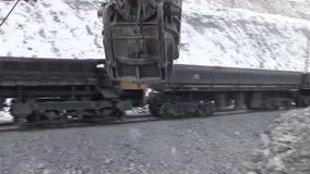 Miasto Yasny, Orenburg region, Rosja, łup dla ekstrakci chryzotylu azbest, 02/10/2018 zbiory wideo