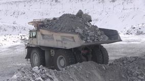 Miasto Yasny, Orenburg region, Rosja, łup dla ekstrakci chryzotylu azbest, 02/10/2018 zbiory