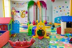 Miasto Yasny, ROSJA, Styczeń 13, 2019 Dziecko rozrywki gemowy pokój editorial zdjęcie stock