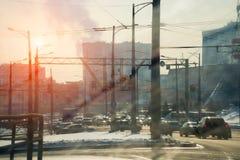 Miasto z problemowym środowiskiem Obraz Royalty Free