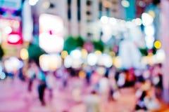 Miasto zaświeca dużego abstrakcjonistycznego kółkowego bokeh Obrazy Royalty Free