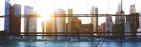 Miasto Zaświeca Miastowego Scenicznego widoków budynków pojęcie Obrazy Royalty Free
