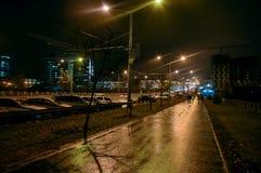 miasto zaświeca noc obraz stock