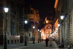 Miasto zaświecająca aleja Zdjęcie Stock