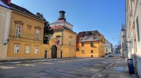 Miasto Zagreb miasteczko historyczny górny fotografia stock