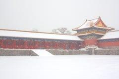 miasto zakazujący śnieg Zdjęcie Royalty Free