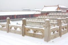 miasto zakazujący śnieg Zdjęcia Royalty Free