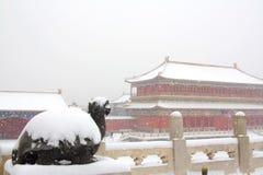 miasto zakazujący śnieg Fotografia Stock