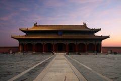 miasto zakazujący frontowy sala harmonii wschód słońca najwyższy Obraz Stock