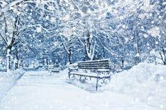miasto zakrywający śnieg Fotografia Royalty Free