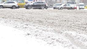 miasto zakrywający śnieg zbiory wideo