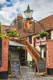 Miasto Zbroi pub w studniach, Somerset, Anglia Zdjęcia Royalty Free