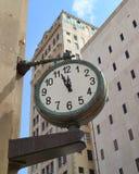 miasto zegar Zdjęcia Royalty Free