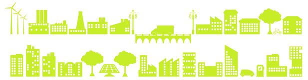 miasto zieleń royalty ilustracja