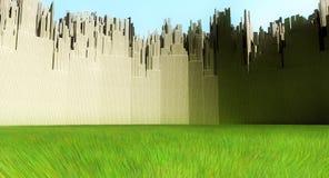Miasto zieleni przestrzeń zdjęcia stock