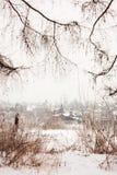 Miasto zimy krajobraz Obrazy Royalty Free