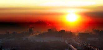 miasto zmierzch zdjęcie royalty free