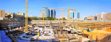 Budowa żurawie fotografia royalty free