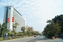 Miastowa budowy drogi sceneria zdjęcie royalty free