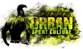 Miastowa miasto sztuka Uliczny sport grafiki styl Moda elegancki druk Szablon odzież, karta, etykietka, plakat emblemat, koszulka royalty ilustracja