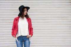 Miastowa mody dziewczyna Zdjęcia Royalty Free