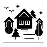 Miastowa parkowa ikona, wektorowa ilustracja, znak na odosobnionym tle ilustracji