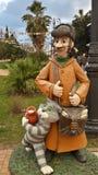 Miastowa rzeźba, sławni Rosyjscy postać z kreskówki, kurort Sochi, Rosja Obrazy Stock